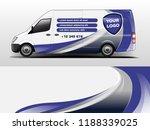 van wrap design for company ... | Shutterstock .eps vector #1188339025
