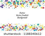 festive color round confetti... | Shutterstock .eps vector #1188340612