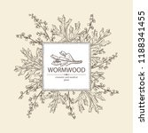 background with wormwood ... | Shutterstock .eps vector #1188341455
