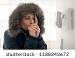 woman with warm clothing... | Shutterstock . vector #1188343672