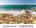 stony coast of the black sea.... | Shutterstock . vector #1188346558