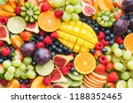 assortment of healthy raw... | Shutterstock . vector #1188352465