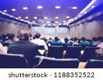 blurry of auditorium for... | Shutterstock . vector #1188352522