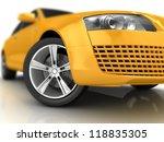 Car Design Background. 3d...