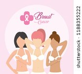 women with breast cancer... | Shutterstock .eps vector #1188355222