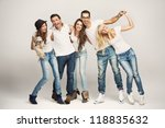 group of young friends | Shutterstock . vector #118835632