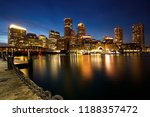 boston skyline with financial... | Shutterstock . vector #1188357472