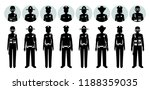 police people concept. set of... | Shutterstock .eps vector #1188359035