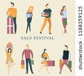 autumn sale festival... | Shutterstock .eps vector #1188359125