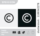 copyright symbol flat black and ... | Shutterstock .eps vector #1188362278