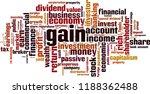 gain word cloud concept. vector ... | Shutterstock .eps vector #1188362488