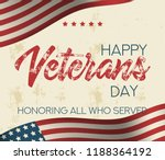holiday veterans day usa flag... | Shutterstock .eps vector #1188364192