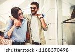 beautiful young couple enjoying ... | Shutterstock . vector #1188370498