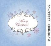 christmas card | Shutterstock .eps vector #118837402