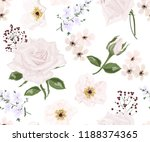 seamless pattern with rose... | Shutterstock .eps vector #1188374365
