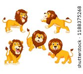 the collection of the lions... | Shutterstock . vector #1188375268