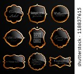 set of black gold labels. check ...   Shutterstock . vector #118837615