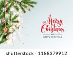 gold decoration with fir and... | Shutterstock .eps vector #1188379912