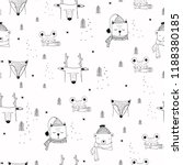 seamless pattern with cute... | Shutterstock .eps vector #1188380185