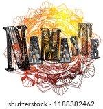 namaste. greeting  farewell. a... | Shutterstock .eps vector #1188382462