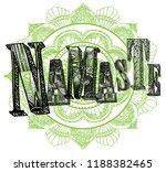 namaste. greeting  farewell. a... | Shutterstock .eps vector #1188382465