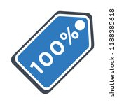 sale tags icon   100 percent  ... | Shutterstock .eps vector #1188385618