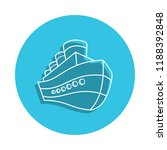 ship logo icon in badge style....