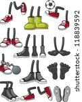 cartoon feet collection | Shutterstock .eps vector #118839592