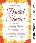 autumn bridal shower invitation ... | Shutterstock .eps vector #1188403498
