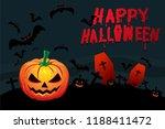 happy halloween  image with... | Shutterstock .eps vector #1188411472