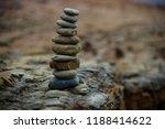 small stone pyramid | Shutterstock . vector #1188414622