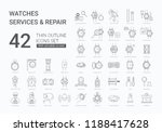 big watches services and repair ...   Shutterstock .eps vector #1188417628