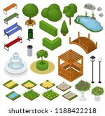 Park Vector Parkland With Green ...