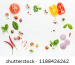 the ingredients for homemade... | Shutterstock . vector #1188426262