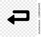 undo arrow vector icon isolated ... | Shutterstock .eps vector #1188426445