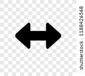 horizontal resize vector icon...