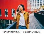 smiling dark skinned hipster... | Shutterstock . vector #1188429028