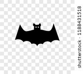 bat vector icon isolated on... | Shutterstock .eps vector #1188431518