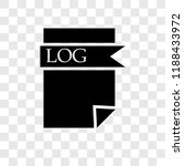 log file vector icon isolated... | Shutterstock .eps vector #1188433972