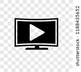 tv vector icon isolated on... | Shutterstock .eps vector #1188435652