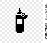 lighter vector icon isolated on ... | Shutterstock .eps vector #1188436138