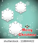 snowflakes background with... | Shutterstock .eps vector #118844422