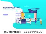 film production vector... | Shutterstock .eps vector #1188444802