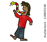 cartoon man with snake for... | Shutterstock . vector #118845148