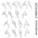 a set of vector cartoon... | Shutterstock .eps vector #1188452158