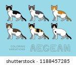 cat aegean coloring variations... | Shutterstock .eps vector #1188457285