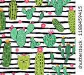 seamless vector pattern with... | Shutterstock .eps vector #1188459415