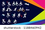 colorful background for sport... | Shutterstock .eps vector #1188460942