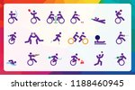 colorful background for sport... | Shutterstock .eps vector #1188460945
