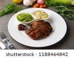 grilled chicken drumstick steak | Shutterstock . vector #1188464842